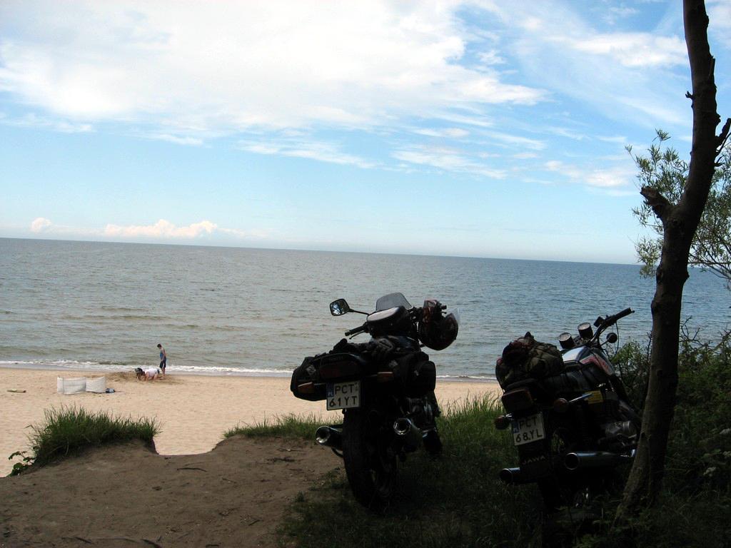 Motocykle też miały chwilę aby podziwiać nasze piękne morze