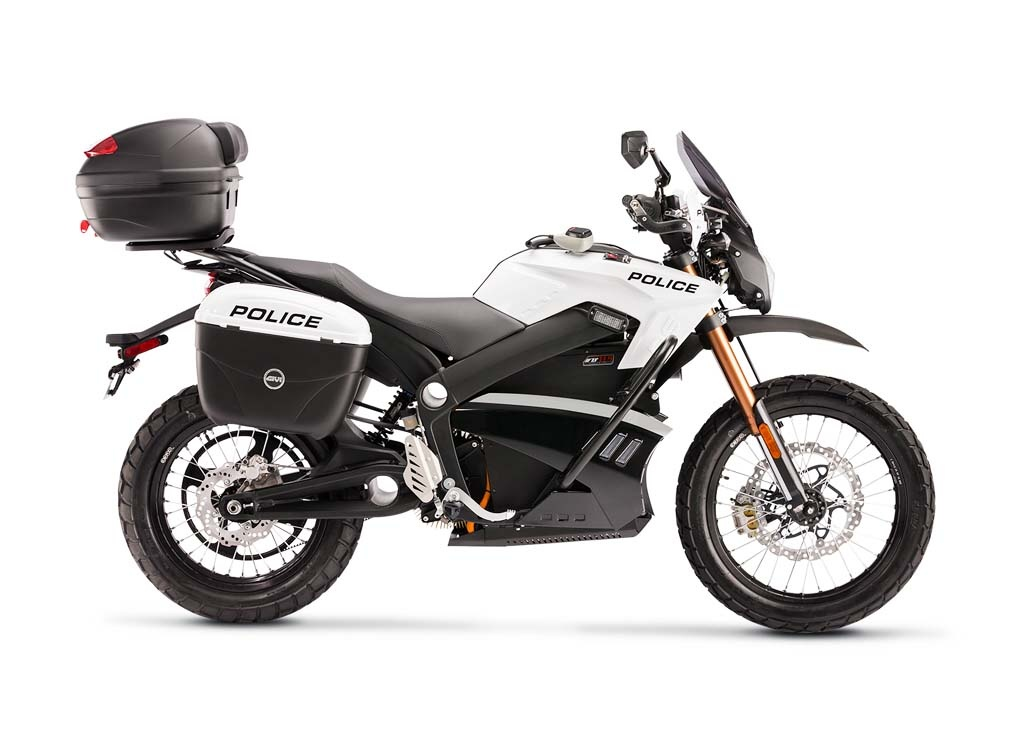 Motocykl elektryczny Zero S w wersji policyjnej