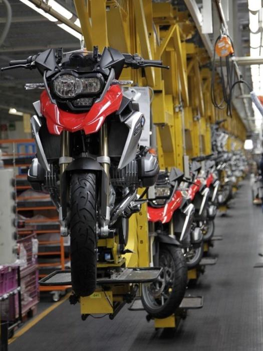 Produkcja modelu BMW R1200GS w fabryce BMW Motorrad