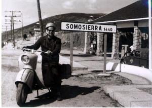 Roman Dobrzyński i skuter Osa, zdobywcy Somosierry