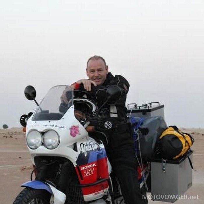 Richard i jego Honda Africa Twin
