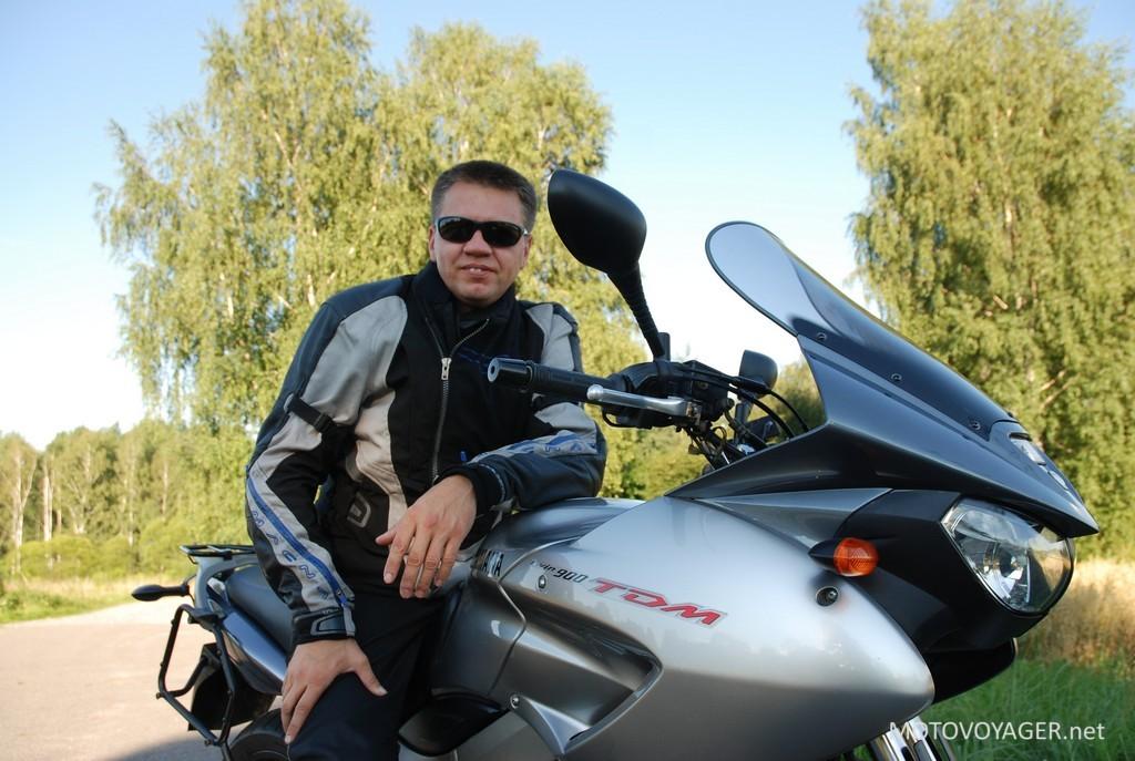 Paweł Konieczny, użytkownik motocykla i jego Yamaha TDM 900