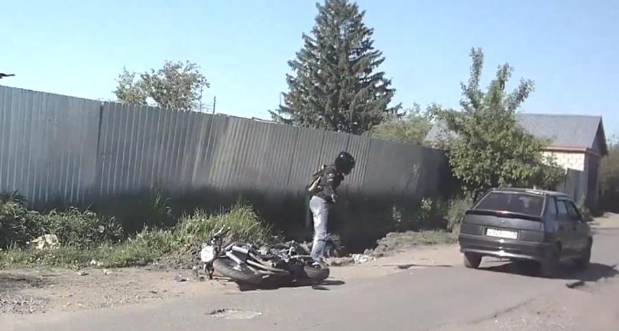 Wypadki motocyklowe – kierowca-patałach