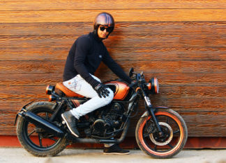 Hipster motorcycle