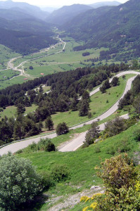 Podjazd pod przełęcz Belagua, od strony hiszpańskiej 1760 m n.p.m.