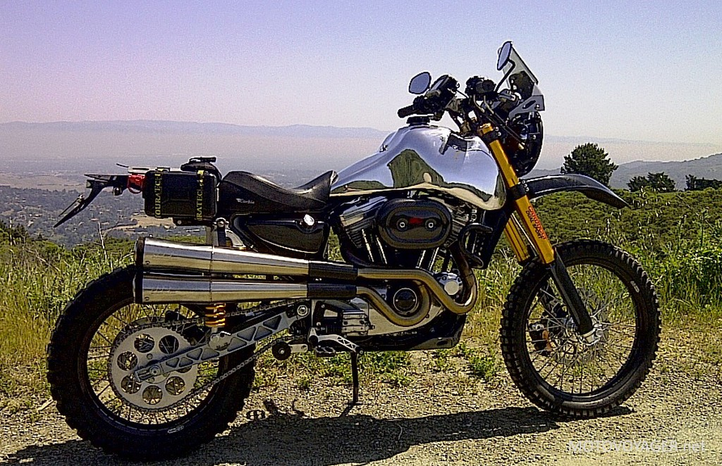 Harley-Davidson Sportster jako rasowe enduro (1)