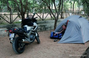 Namiot był naszym wiernym towarzyszem podróży