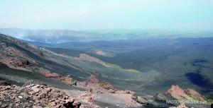 Tutaj zbiera się lawa z erupcji