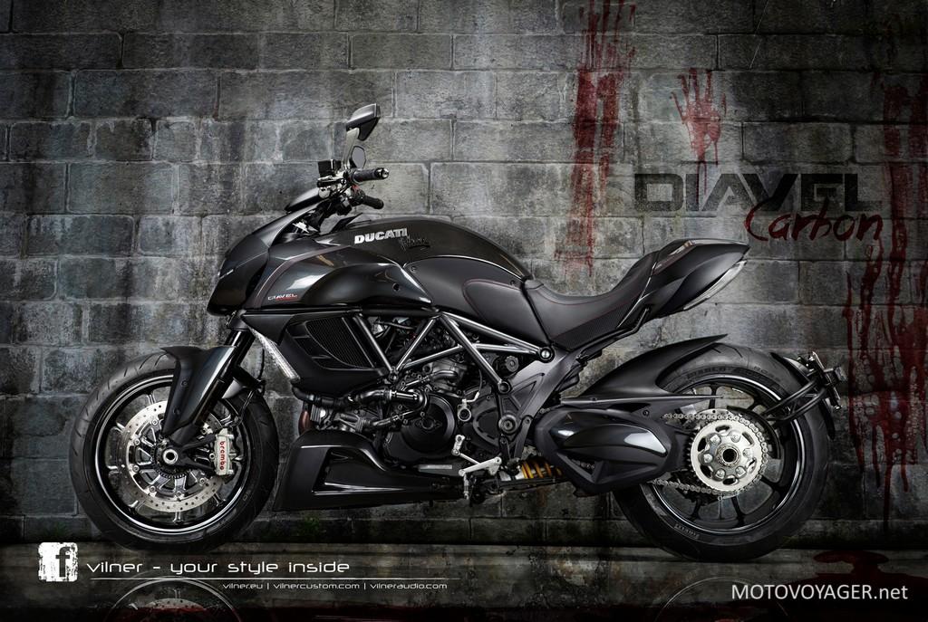 Ducati Diavel Carbon ze skórzanymi dodatkami od Vilnera (1)