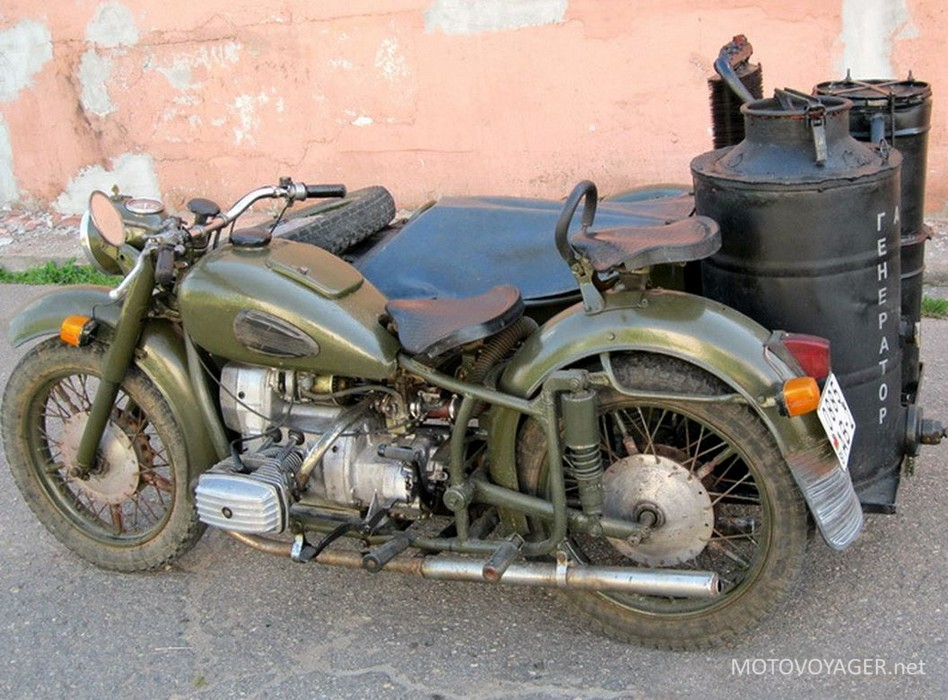 Motocykl opalany drewnem