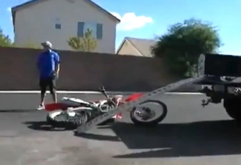 Jak nie ładować motocykla