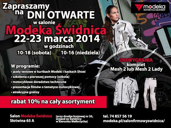 Dni otwarte Salon Modeka Świdnica 22-23.03.2014_ulotka jpg