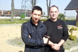 Krystian Plato z TVN Turbo i Rafał Betnarski z Motovoyagera