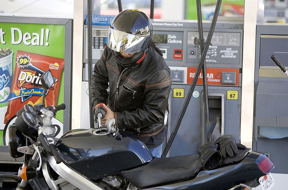 tankowanie motocykla