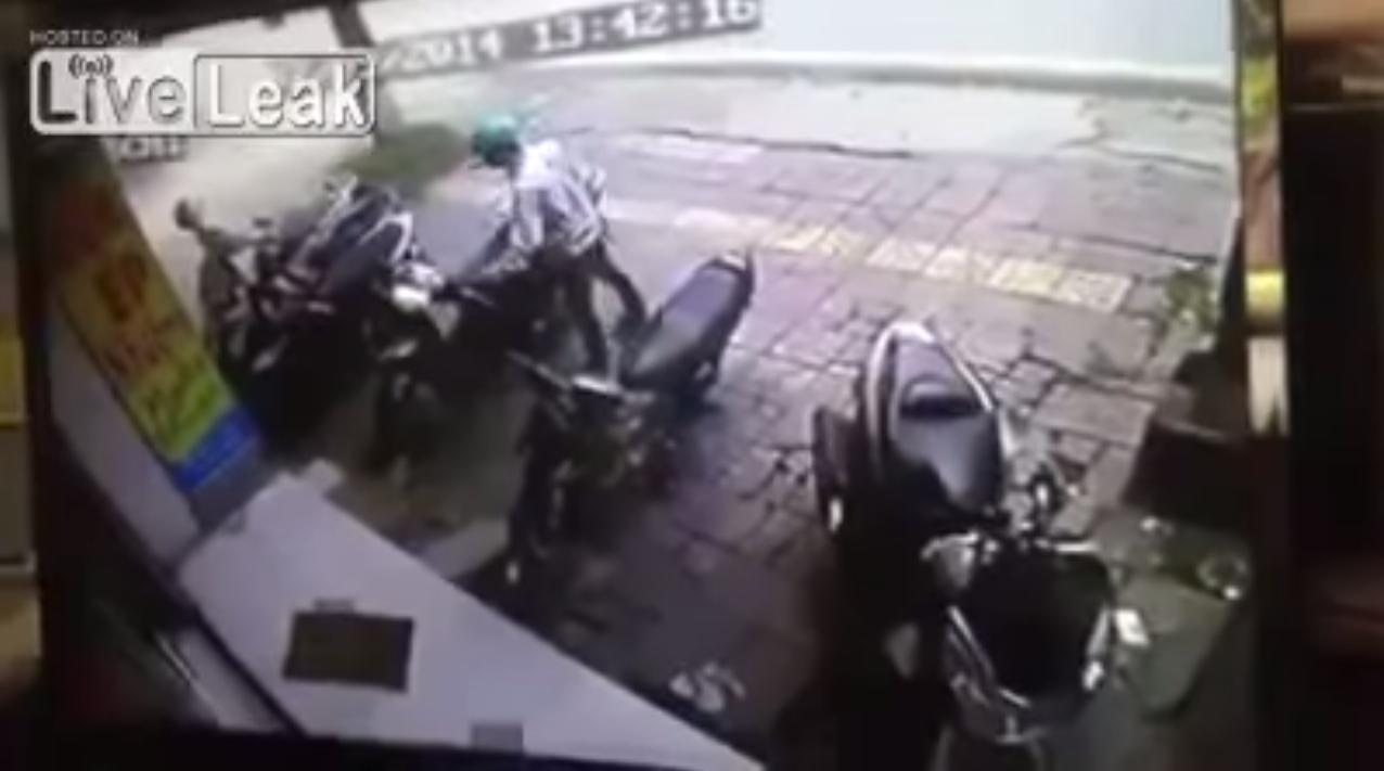 Złodziej motocykla