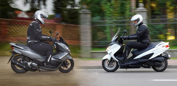 Honda PCX125 i Suzuki Burgman 125