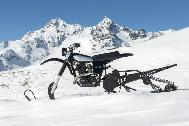 snowbike w stylu retro