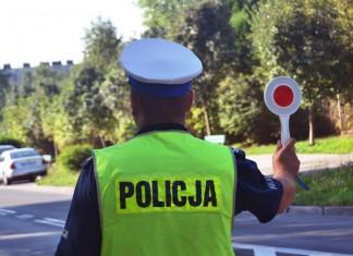 Policja ostrzeganie światłami