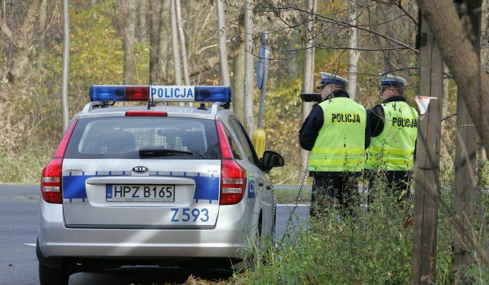 policja drogowka kontrola drogowa pomiar