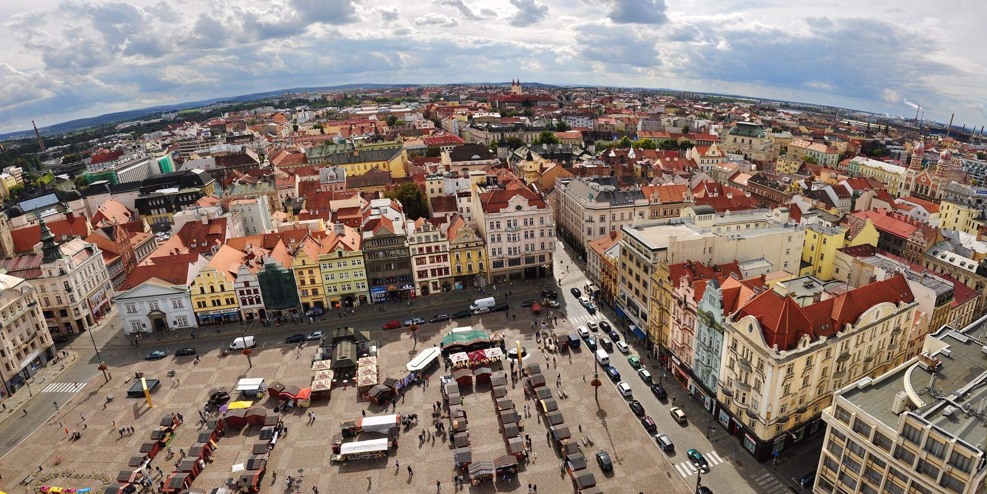 Pilzno, panorama z katedry Św. Bartłomieja. Fot. Ladislav Renner