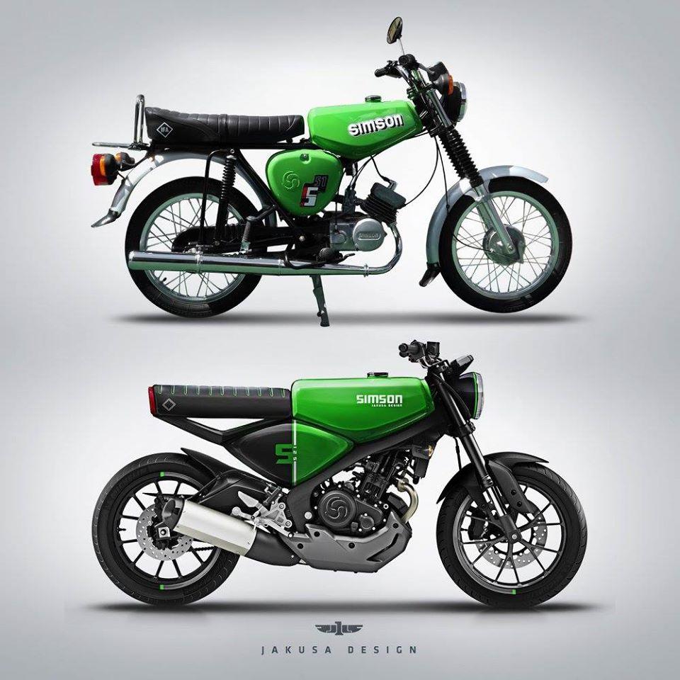 simson s51 s125 motocykl powrót motorower