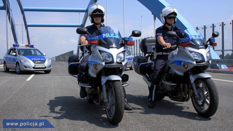 Honda CB polska Policja radiowóz motocykl policyjny