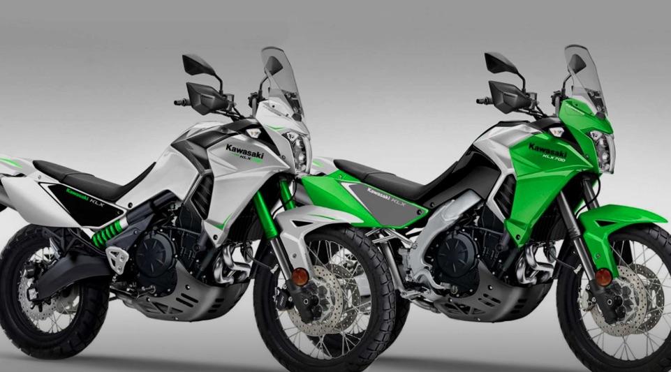 nowy motocykl model kawasaki klx 700 enduro tenere 700 konkurencja zielony