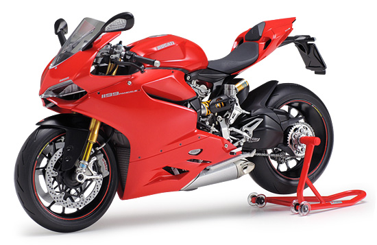 Tamiya Ducati Panigale motocykl do sklejania model