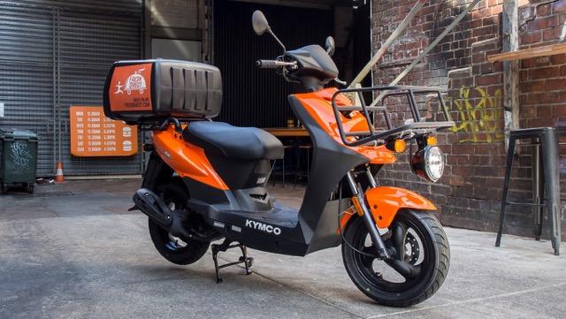 kymco carry jaki skuter do rozwożenia pizzy kuriera pracy w restauracji