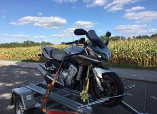 yamaha fazer fzs  zakup motocykla transport przyczepka