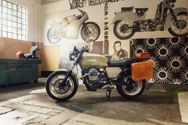 Moto Guzzi V7 klasyczny retro turystyka adventure