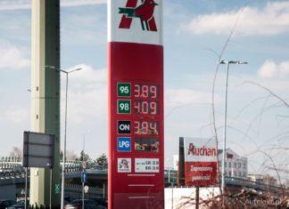 ceny paliw w polsce cena za baryłe ropy stacja paliwa auchan paliwo benzyna ropa