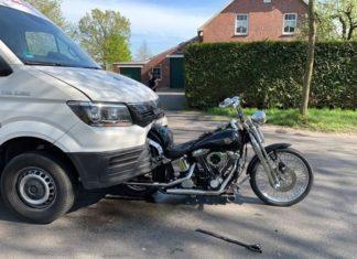 harley davidson Softail Springer man bus motocykl kolizja najechanie wypadek