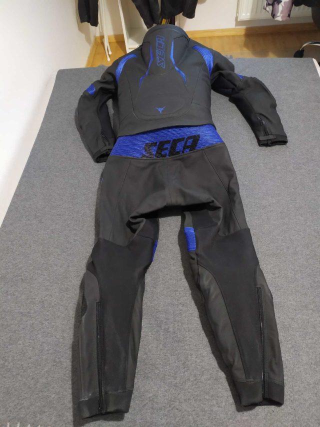 kombinezon skórzany SECA SRS Chrome blue