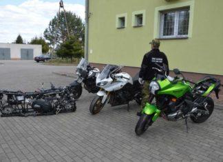 kradzież motocykli straż graniczna SG yamaha kawasaki bmw