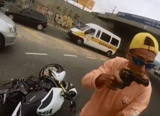 napad na motocykliste kradziez rabunek przemoc francja mafia bandyci