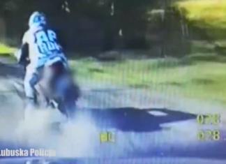 pościg za motocyklistą