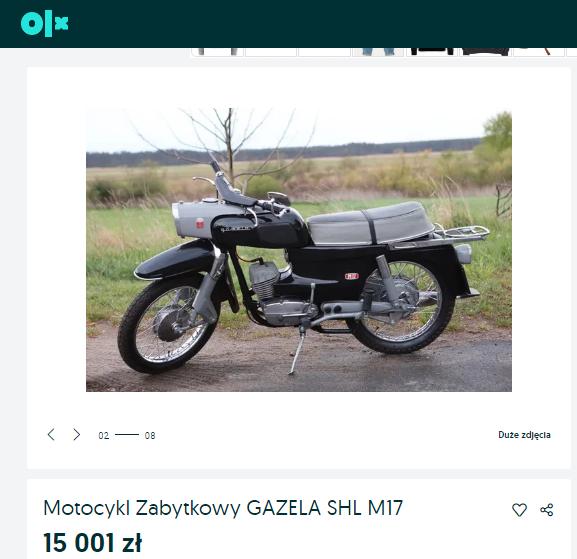 Ile kosztuje Gazela SHL M17 odrestaurowana