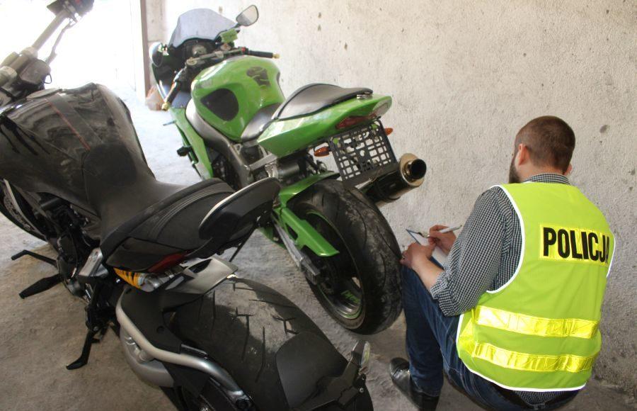 policja kradzież motocykli złodzieje kawasaki honda suzuki ducati