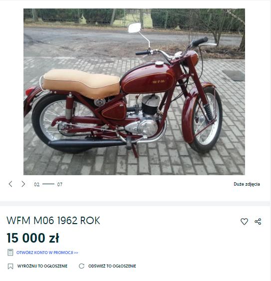 Ile kosztuje odrestaurowana WFM M06