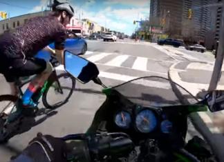 rowerzysta motocyklista wypadek kolizja skrzyżowanie