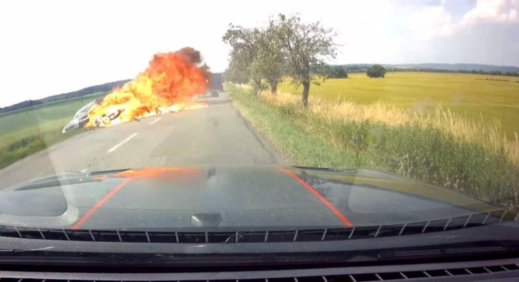 Pożar motocykla