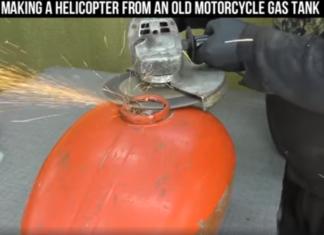 helikopter z baku motocykla zbiornik paliwa diy jak zrobic helikopter