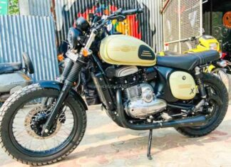 Jawa scrambler motocykl terenowy enduro klasyczny miejski