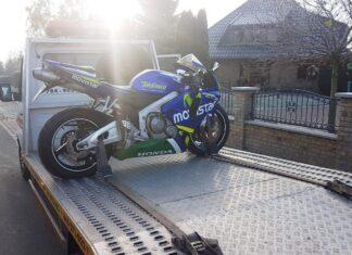 laweta motocykl