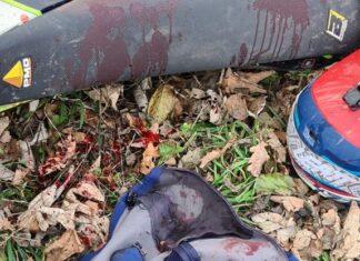 nożownik atakuje letniego motocyklistę andrychów