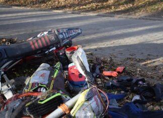 nożownik zaatakował motocyklistę