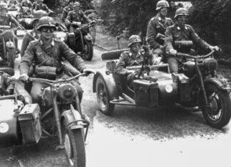 BMW R  motocykl wojskowy bojowy militarny zabytkowy weterański weteran niemiecki druga wojna światowa