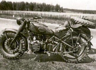 TMZ  radziecki rosyjski motocykl wojskowy terenowy zabytkowy weteran niezwykły dziwny