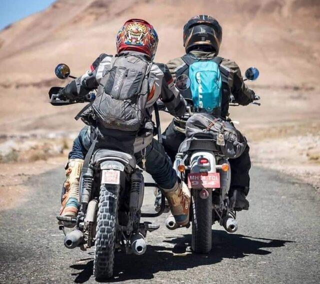 holowanie motocykla innym motocyklem